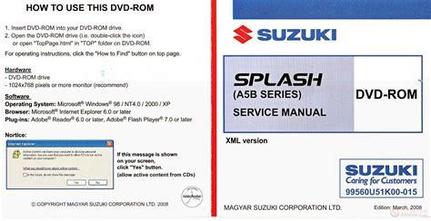 Suzuki Splash Service Manual