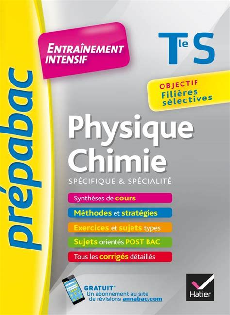 Svt Tle S Specifique And Specialite Prepabac Entrainement Intensif Objectif Filieres Selectives Terminale S