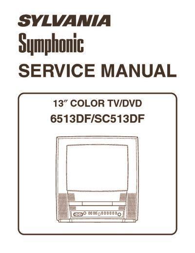 Sylvania Symphonic 6513df Color Tv Dvd Repair Manual
