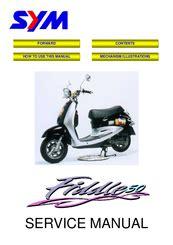 Sym Fiddle Ii 50 Workshop Repair Manual