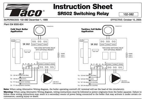 Taco Valve Internal Switch Wiring Diagram
