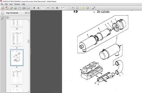 Takeuchi Tb35s Engine Parts Manual