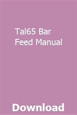 Tal65 Bar Feed Manual