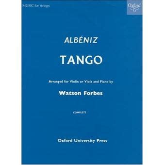 Tango Arranged For Violin Or Viola And Piano