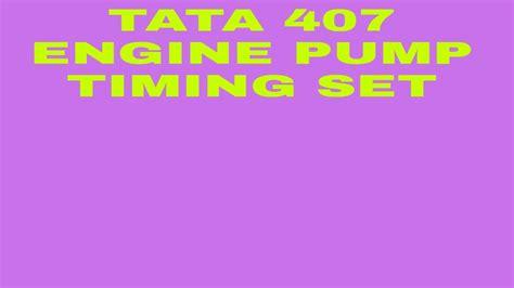 Tata 407 Engine Service Manual