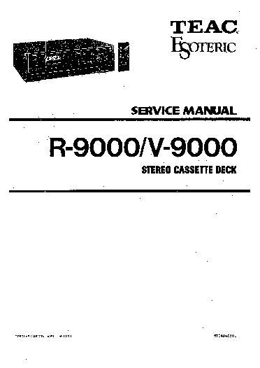 Teac R 9000 Service Manual