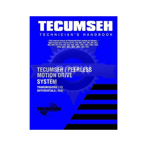 Tecumseh Peerless Transmissions 2800 Series Factory Service Workshop Manual