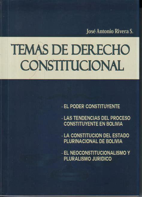 Temas de Derecho Constitucional