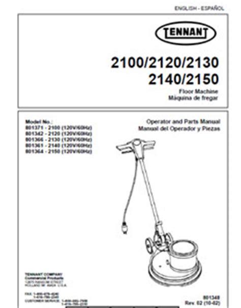 Tennant 2100 Floor Buffer Manual