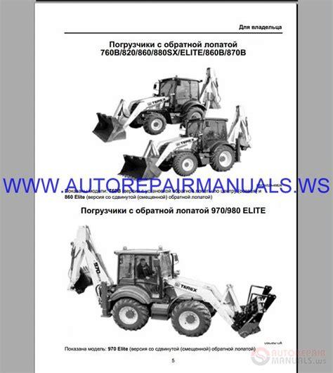 Terex 760 Operator Manual