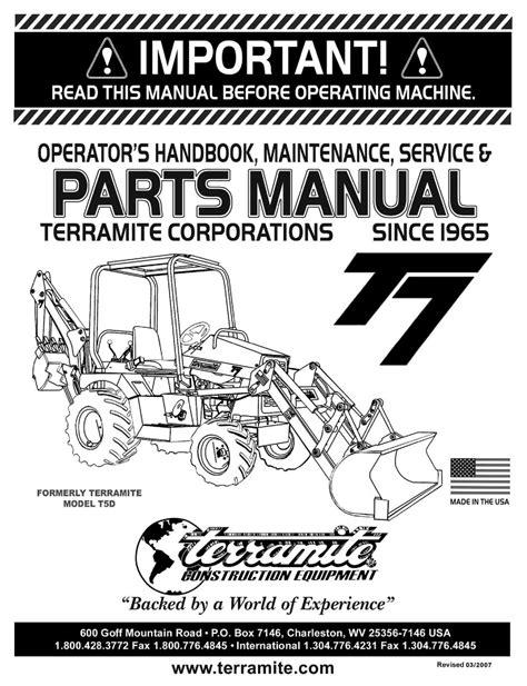 Terramite T5d Service Manual