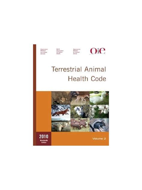 Terrestrial Animal Health Code 2009