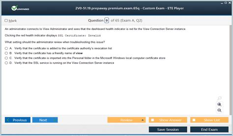 Test 2V0-51.19 Online