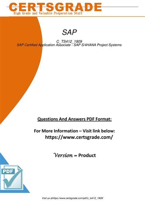 Test C-TS412-1909 Questions