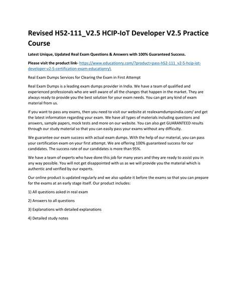 Test H52-111_V2.0 Collection Pdf