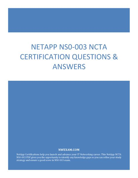 Test NS0-003 Questions Answers
