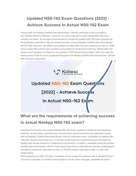 Test NS0-162 Sample Online