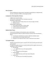Texas Tech Pols 2302 Study Guide