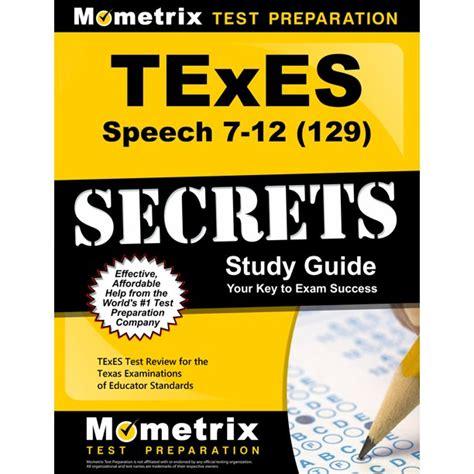 Texes Speech 129 Study Guide