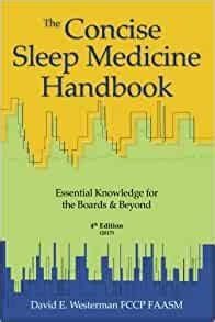 The Concise Sleep Medicine Handbook 5th Edition Essential Knowledge For The Boards And Beyond