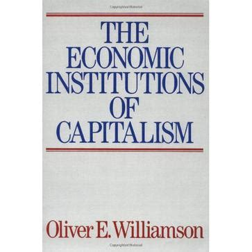 The Economic Institutions of Capitalism