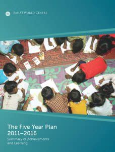 The Five Year Plan 2011-2016: Summary of Achievements and Learning