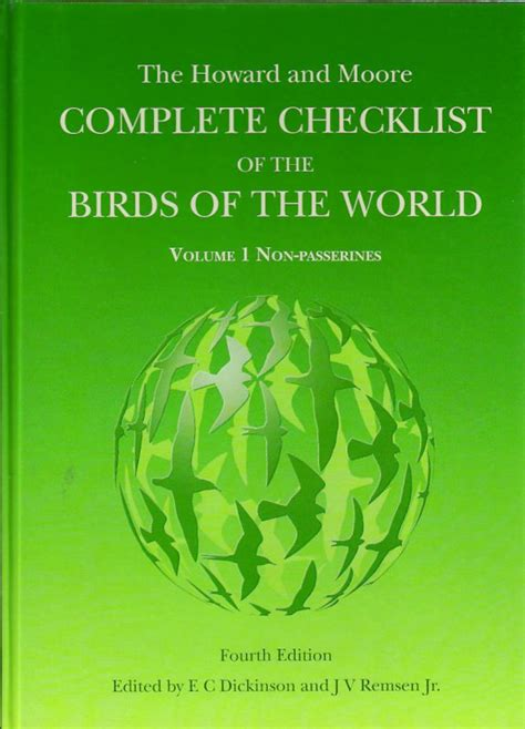The Howard And Moore Complete Checklist Of The Birds Of The World Passerines Volume 2