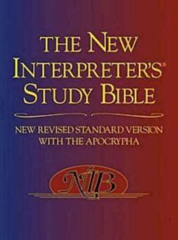 The New Interpreters Study Bible Revised Standard Version With Apocrypha Walter J Harrelson
