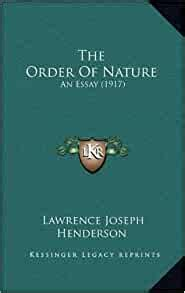 The Order Of Nature An Essay 1917