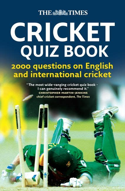 The Times Cricket Quiz Book 2000 Questions On English And International Cricket