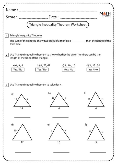The Triangle Inequality Theorem Worksheet Answers