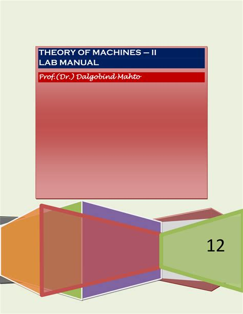 Theory Of Machines 2 Lab Manual