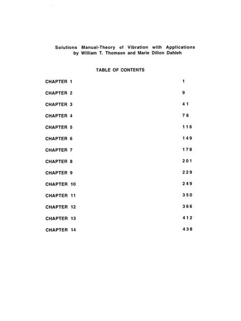 Theory Of Vibration With Applications 5th Edition Solution Manual