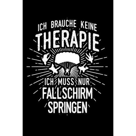 Therapie Lieber Fallschirm Notizbuch Notizheft Fur Fallschirmspringer Fallschirm Springen Skydiving A5 6x9in Dotted Punktraster