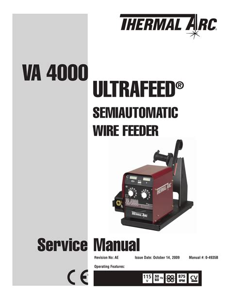 Thermal Arc Parts Manual