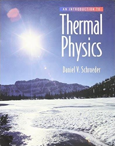 Thermal Physics Solutions Manual Schroeder