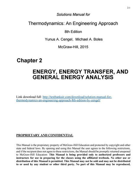 Thermodynamics Seventh Edition Cengel Solution Manual