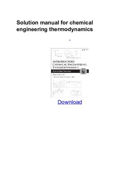 Thermodynamics Solution Manual Pdf