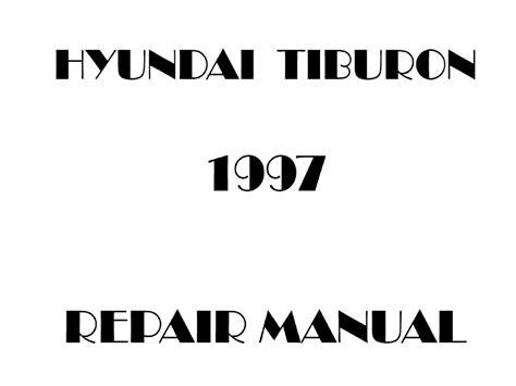 Tiburon 1997 Factory Service Repair Manual