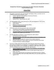 Tico Study Guide