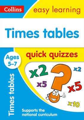 Times Tables Quick Quizzes Ages 5-7 (Collins Easy Learning KS1)