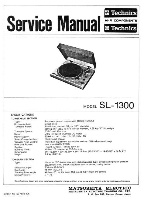 Timesavers 1300 Maintenance Manual