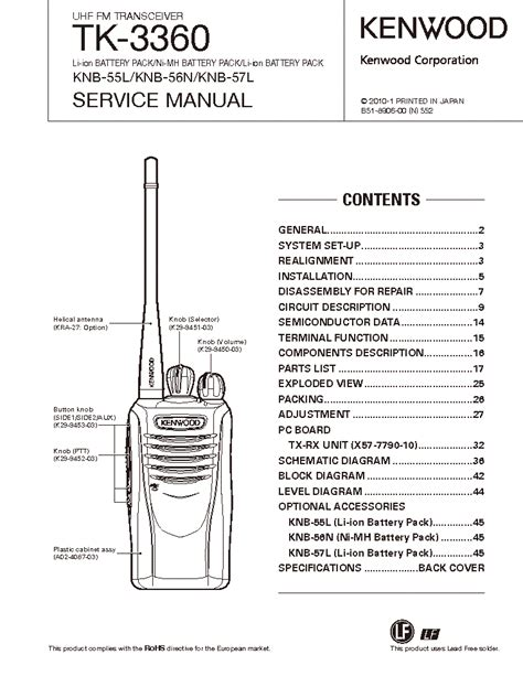 Tk3360 Service Manual