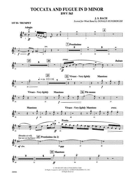 Toccata And Fugue In D Minor Bwv 565 The Donald Hunsberger Wind Library