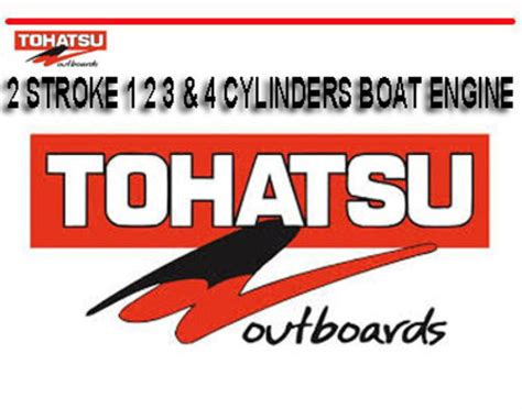 Tohatsu Outboards 2 Stroke 1 2 3 4 Cylinders Boat Manual