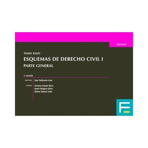 Tomo Xxxiv Esquemas De Derecho Civil I Parte General 2a Edicion 2016