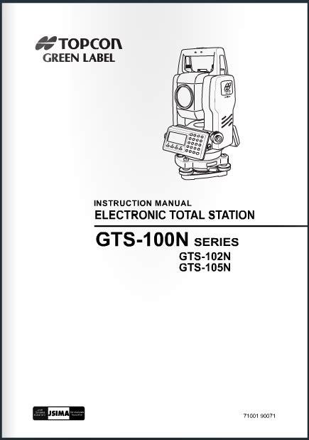 Topcon Gts 105n Manual