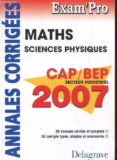 Topexam Maths Sciences Physiques Bep Industriel