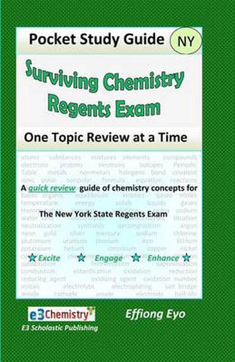 Topic Eight Study Guide Chemistry