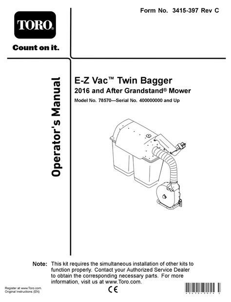 Toro Ez Vac Manual